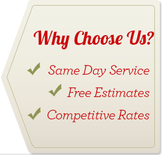 Why choose Charles Capasso and Sons? Same Day Service, Free Estimates, Competitive Rates